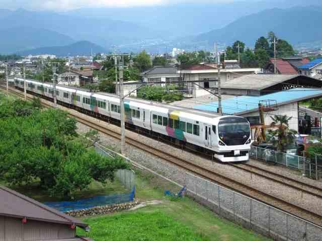 山梨県を走る中央線の列車